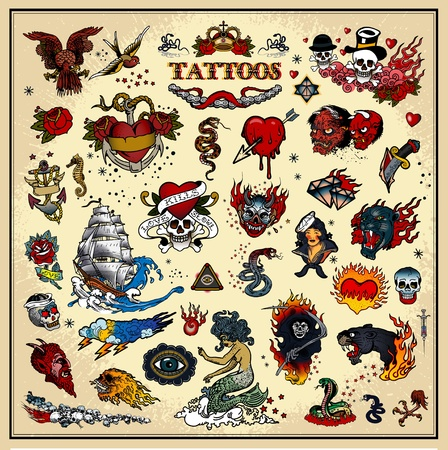 sailors: tattoos Illustration