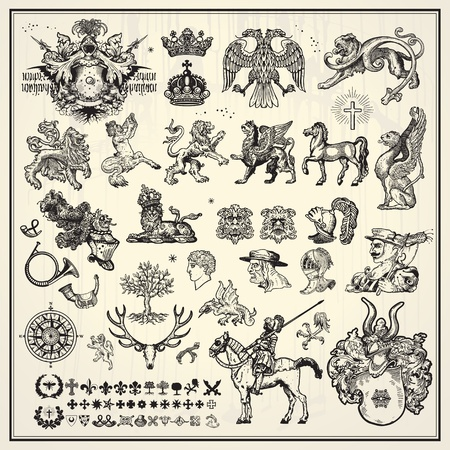 horseman: her�ldica, elementos de la colecci�n