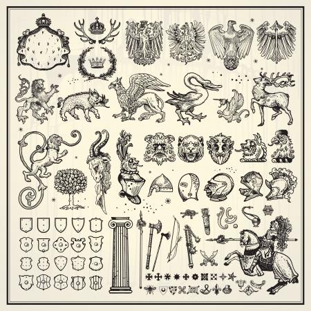 Elementos de la colección heráldica