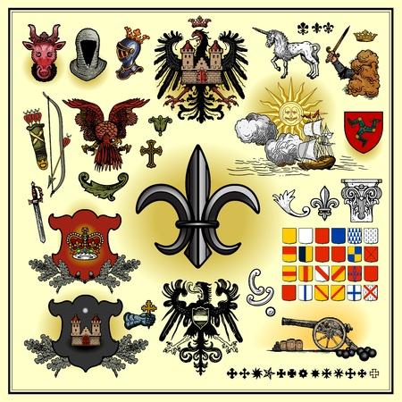 spears: Heraldic elements