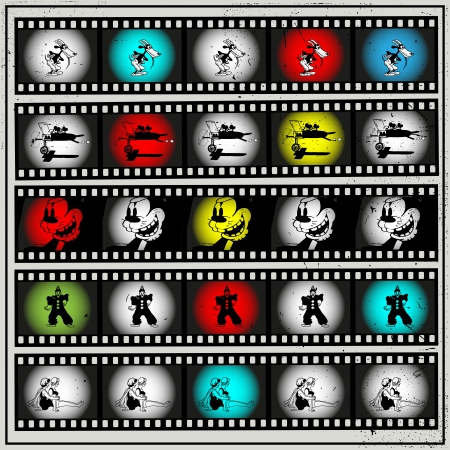 animated film: silent movie animation