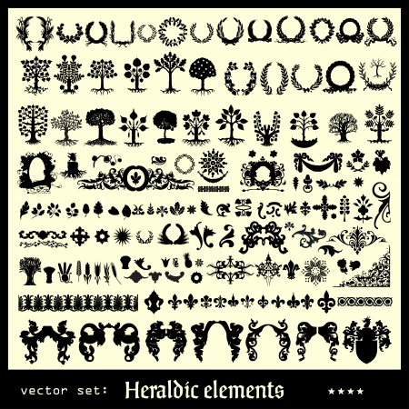 éléments héraldiques fleuris