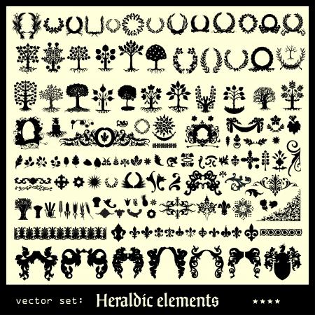 xilografia: elementos florales heráldicos