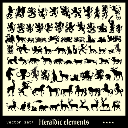 heraldic animal: heraldic elements mammals