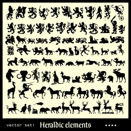 heraldische elementen zoogdieren