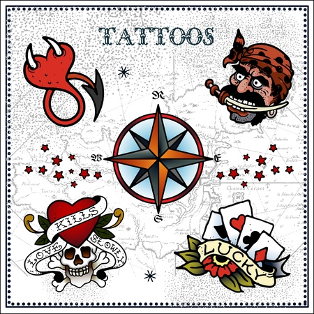 star and flame: Tattoo