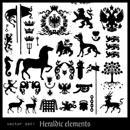 heraldic elements Stock Vector - 17571641