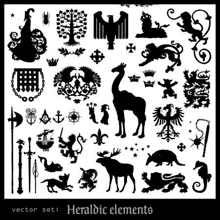 cross arms: heraldic elements Illustration