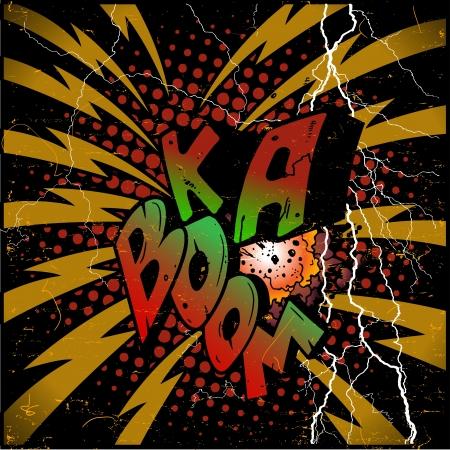 explosions ka-boom Stock Vector - 17571644