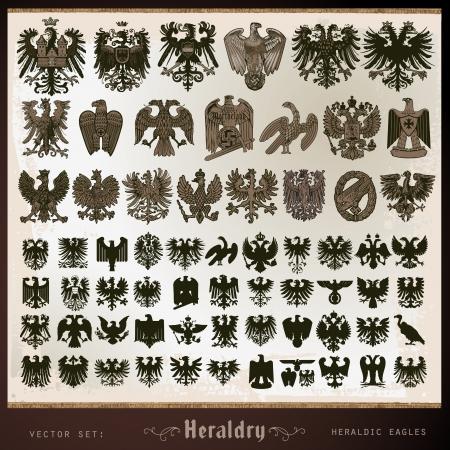 supporter: heraldic elements eagles Illustration