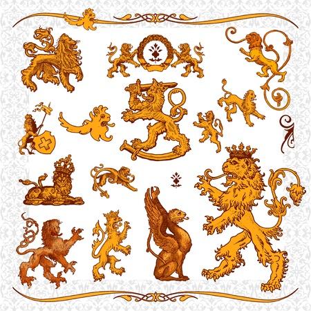 royal safari: heraldic elements Illustration