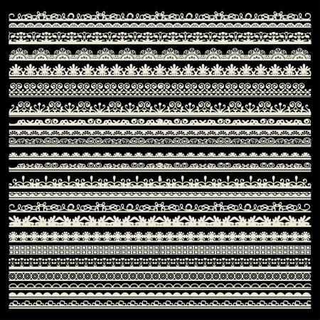 set of lace trims Illustration