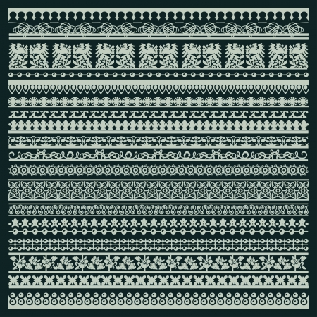 trims: vector set of lace trims