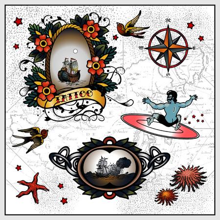 dagger tattoo: Tattoos Illustration