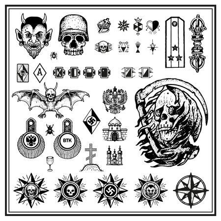 daggers: Criminal tattoos Illustration