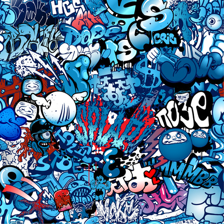 graffiti art: Graffiti, street art