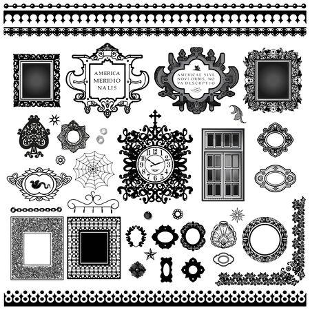 Antique frames ornaments