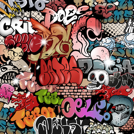 graffiti background: Seamless graffiti pattern
