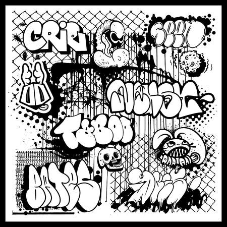 Via elementi di arte dei graffiti