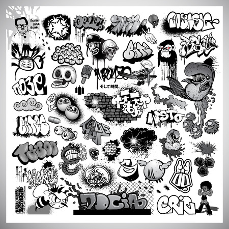 Street art graffiti elements Vector