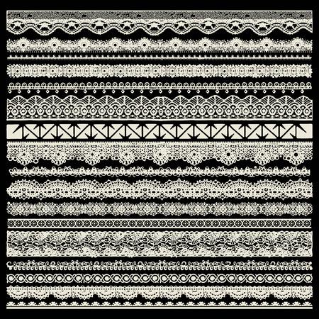 trims: Vector set of lace trims Illustration