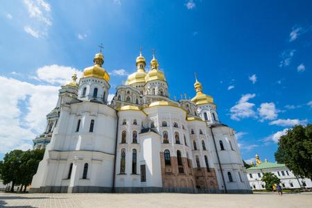 역사적인 정통 기독교 키에프 Pechersk Lavra 동굴 수도원. 스톡 콘텐츠
