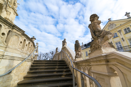 Stairs of St. Georges Cathedral in Lviv, Ukraine.
