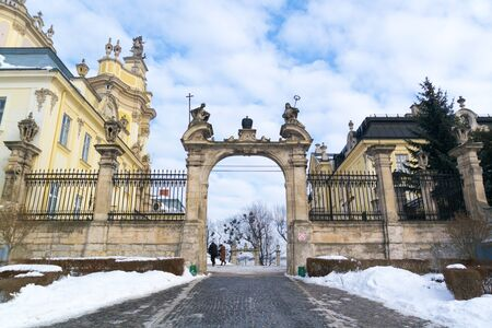 Central gate of St. George's Cathedral in Lviv, Ukraine. Фото со стока