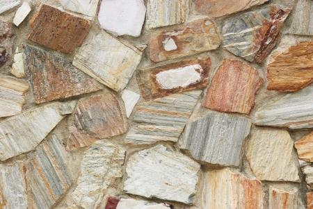 Sedimentary rock in concrete wall