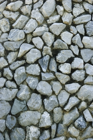 Rock in old cement wall Stock Photo - 17277461