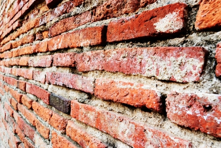 Brick wall with perspective view