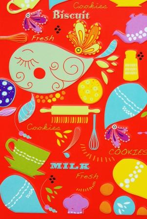 Biskuit on red background