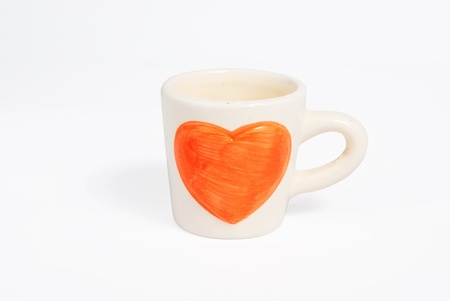 A cup of love on isolated white Stock Photo
