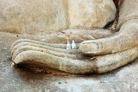 Buddha in hand Stock Photo