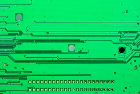 Close up on a part of the old electronic circuit boards texture background Stock Photo