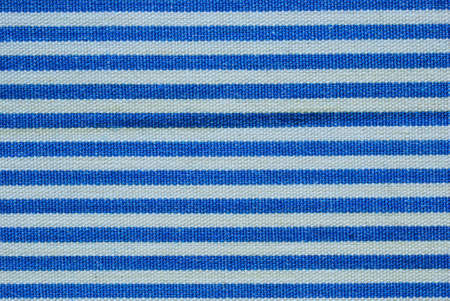 Close up on blue and white line fabric photo