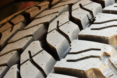 Close up on dirty tire line background