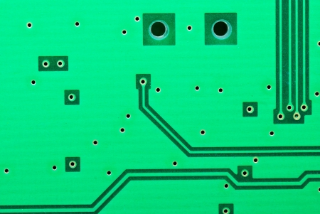 Close up on some of the old electronic circuit boards  background photo