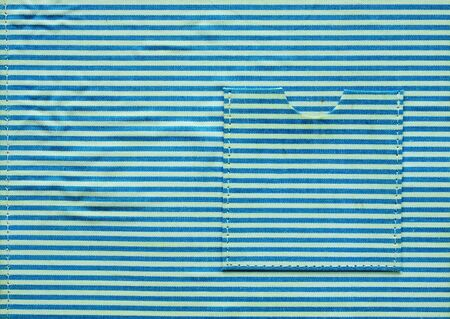 Dirty fabric with blue and white line background photo