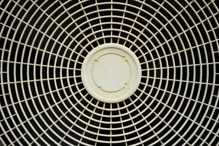 Old fan cover of air conditioner background