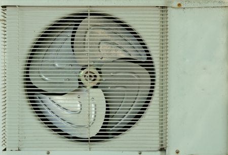 Close up on the old air compressor background photo