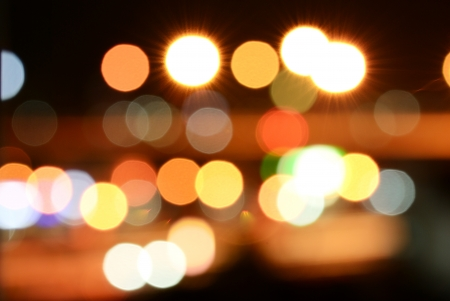Abstract colourful bokeh light use for background Stock Photo
