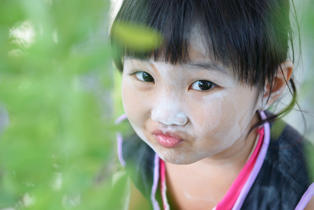 The Thailand girl on the cheeky face photo
