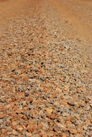chromic: Small rock for build the road on tilt shift shot