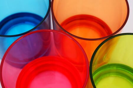 Colorful plastic glass background for graphic designer photo