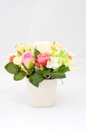 Rose flower decoration on isolated background use for graphic designer photo