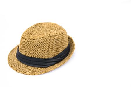 Cotton hat on isolated white background  photo