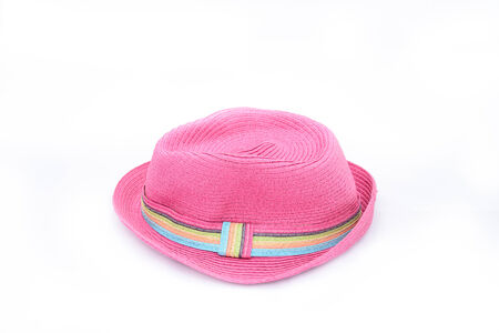 pink hat: Pink hat on isolated white background