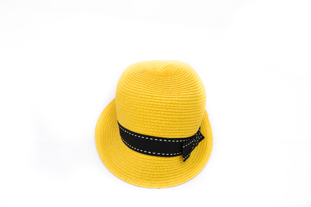 Yellow hat on isolated white background