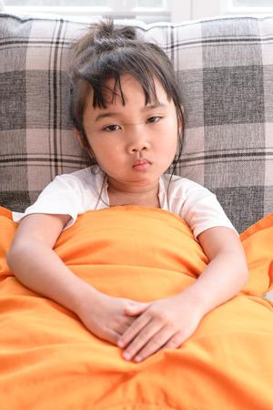 Kid on sick mood